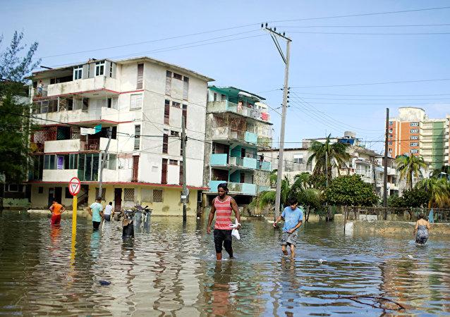 La Habana, Cuba, tras el huracán Irma (archivo)