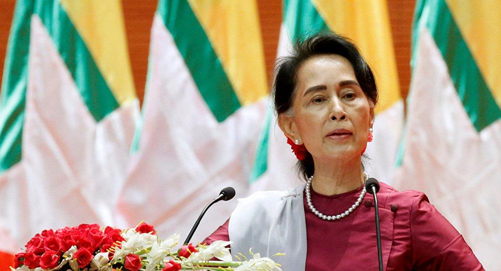 Aung San Suu Kyi, Consejera de Estado birmana (archivo)