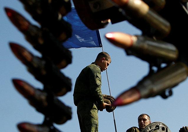 Un militar de Donetsk (archivo)