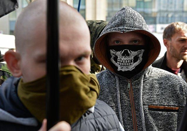Radicales ucranianos en Kiev