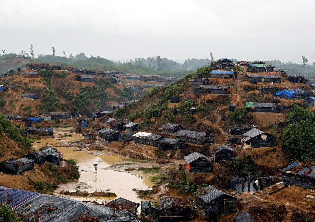 Campo de los refugiados rohinyás en Cox's Bazar, Bangladés
