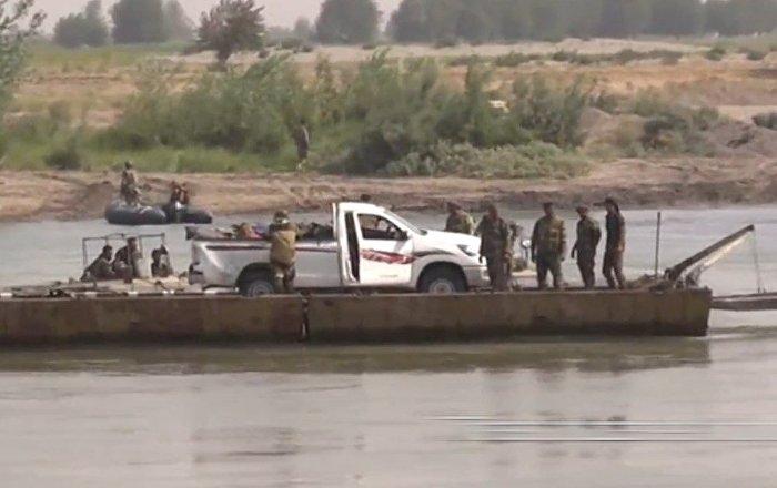 Superar una línea simbólica: el Ejército sirio cruza el río Éufrates