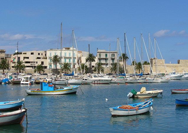 La ciudad de Bari (Apulia, Italia)