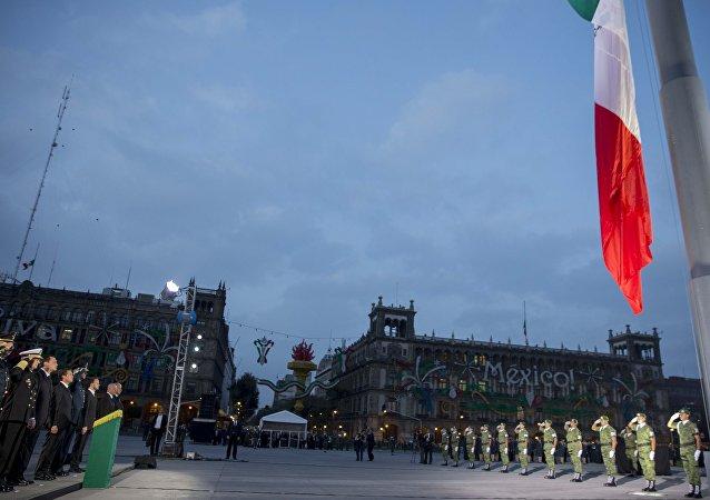 Ceremonia en memoria de las personas que perdieron la vida durante el sismo del 19 de septiembre de 1985