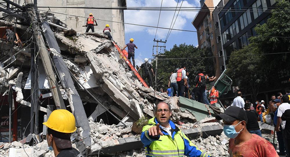 Fuerte y destructivo terremoto sacude México 1072486780
