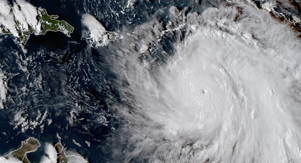 Huracán María visto desde el espacio (archivo)