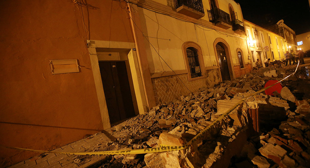 Lamentables perdidas dejó el terremoto en una escuela de México