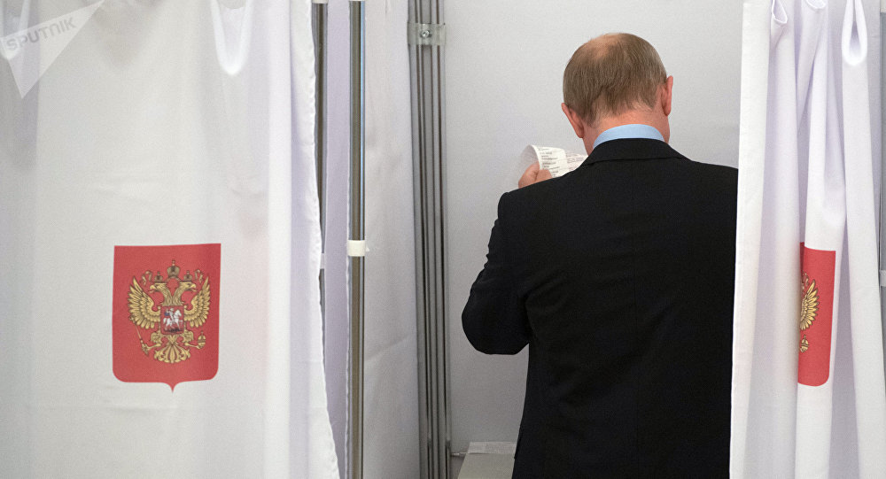 Vladímir Putin, presidente de Rusia, durante las elecciones regionales (archivo)