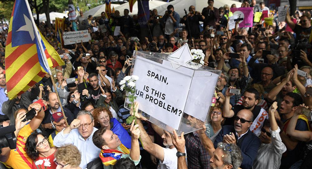 Manifestaciones en contra de las autoridades españolas