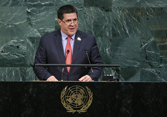El presidente de Paraguay, Horacio Cartes, en la Asamblea General de la ONU