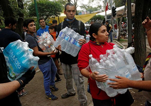 Afectados por el terremoto de México