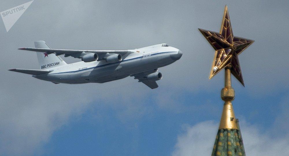 Avión de carga An-124-100 de la Fuerza Aérea de Rusia