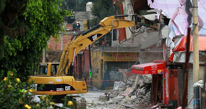 Labores de rescate tras el sismo en México