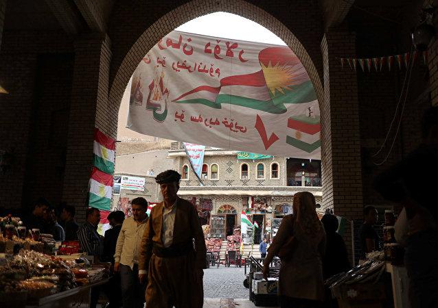 Los carteles que llaman a votar en el referéndum independista en Kurdistán, Irak