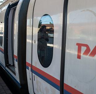 Un tren de la empresa estatal Ferrocarriles de Rusia (RZD)