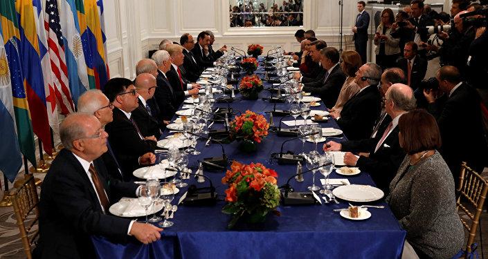 Donald Trump, presidente de EEUU, se reúne con líderes latinoamericanos en Nueva York
