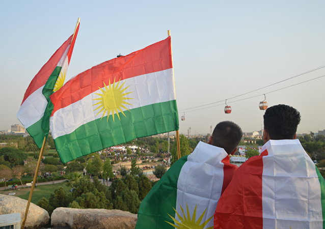 Simpatizantes de la independencia de Kurdistán iraquí