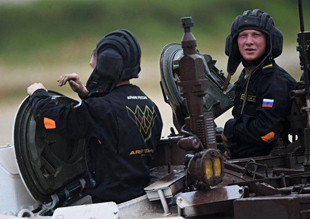 Operadores de tanque rusos en los Juegos Militares Internacionales Army Games 2017