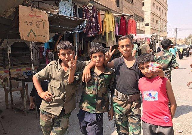 Niños en Deir Ezzor