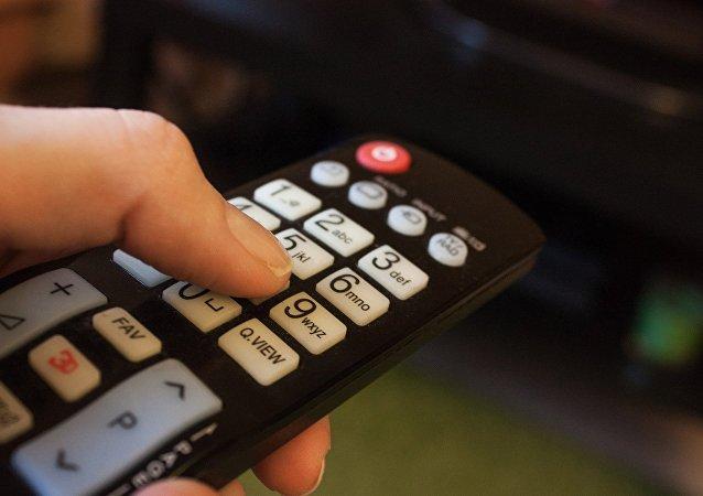 Un mando de televisión