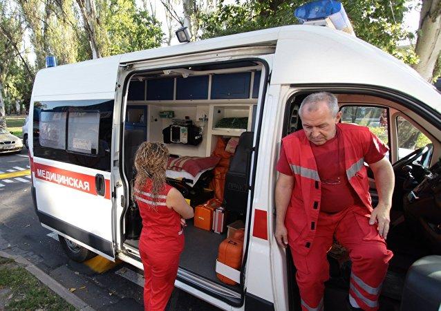 Una ambulancia en la ciudad de Donetsk (archivo)