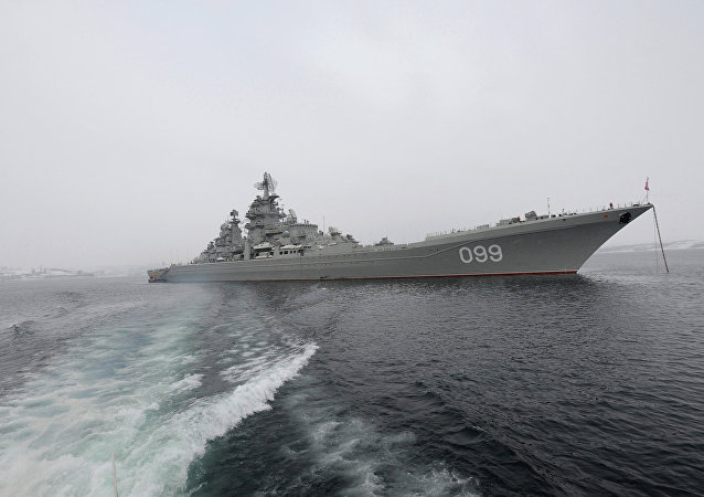 El crucero nuclear Piotr Veliki (Pedro el Grande)