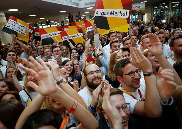 Partidarios de la Unión Demócrata Cristiana de Alemania
