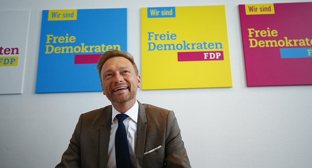 Christian Lindner, el líder del padrido Democrático Libre de Alemania (FDP)