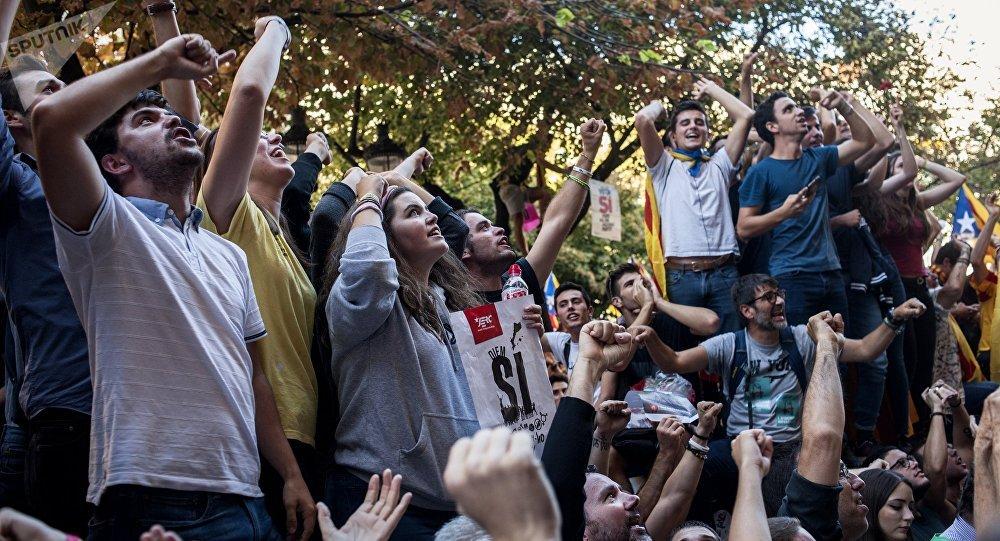 Protestas en Barcelona, Cataluña (archivo)