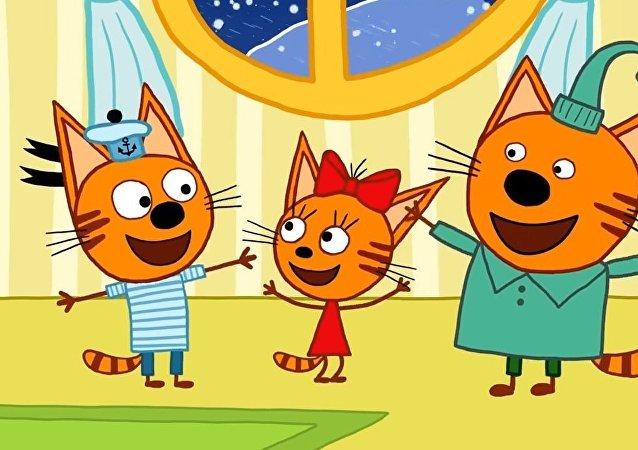El dibujo animado de producción rusa 'Tres Gatos'