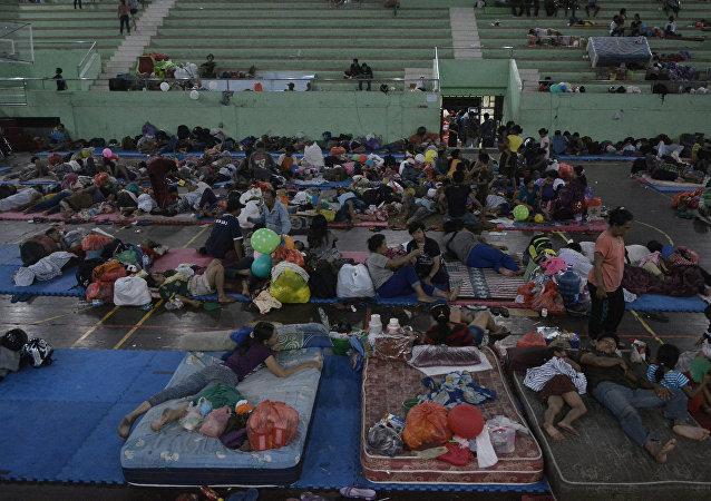 Evacuación en Bali