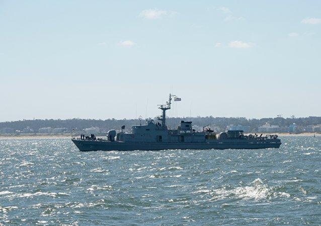 Un buque de la armada uruguaya (archivo)