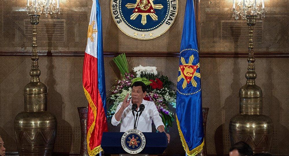 Rodrigo Duterte, presidente de Filipinas, en el Palacio de Malacañang (archivo)