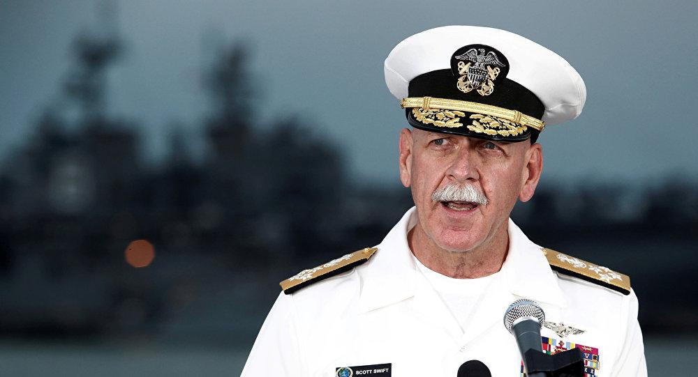 El almirante Scott Swift, ex comandante de la Flota del Pacífico de EEUU