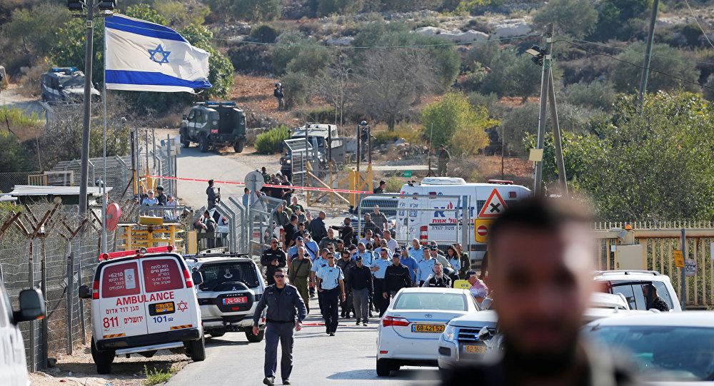 El lugar del ataque en el Este de Jerusalén, Israel