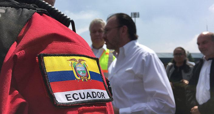 El Canciller Luis Videgaray visita el Puesto de Comando de Ayuda Internacional