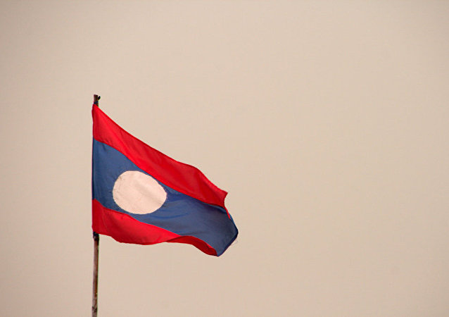 La bandera de Laos