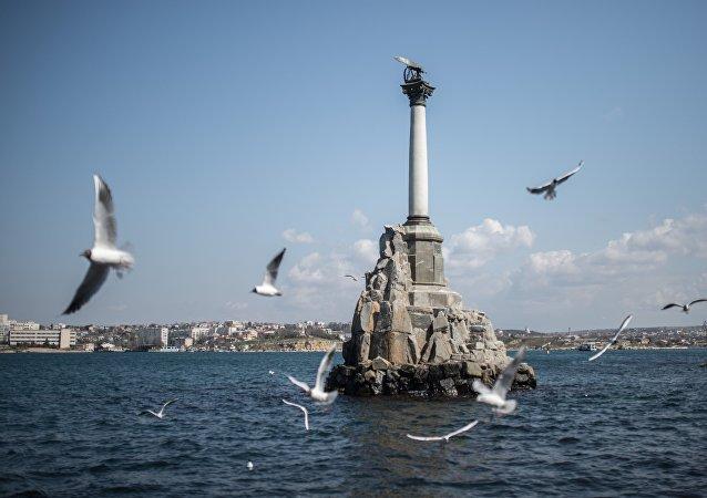 Monumento a los Buques Hundidos en Sebastópol, Crimea (archivo)