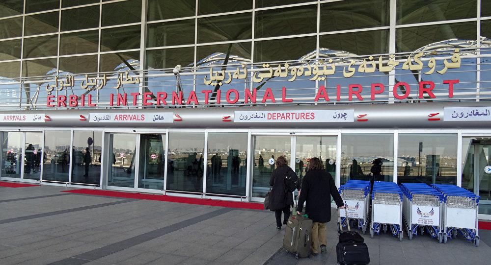 El aeropuerto internacional de Erbil, Kurdistán iraquí