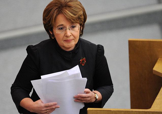 Oxana Dmítrieva, la diputada de la Asamblea Legislativa de la ciudad de San Petersburgo