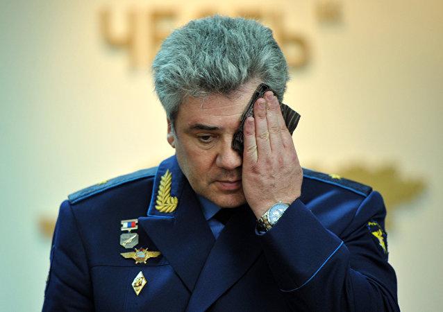 El comandante de la Fuerza Aeroespacial rusa, Víctor Bóndarev