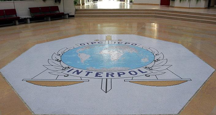 El logo de Interpol (imagen referencial)
