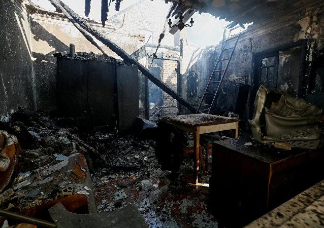 Incendio en un almacén de municiones en Ucrania