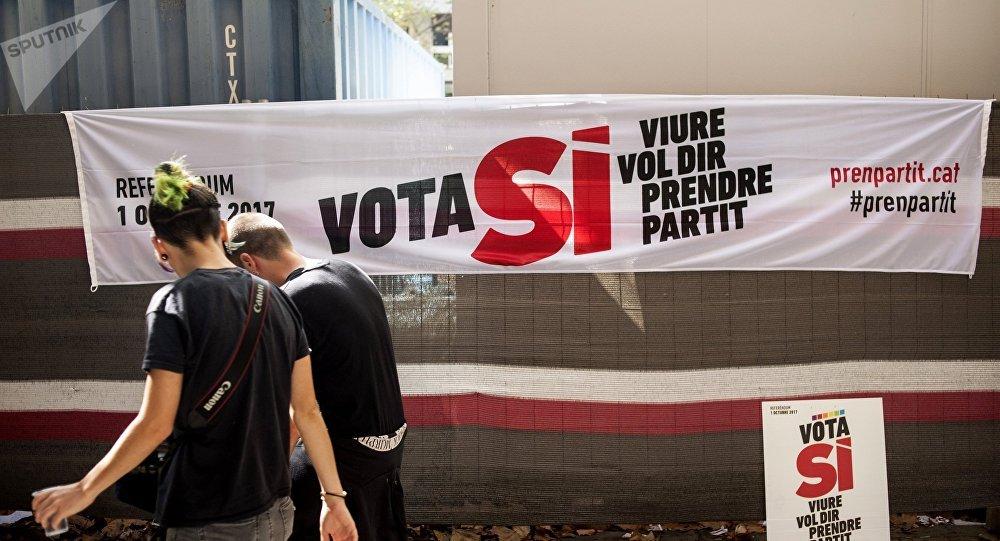 Un cartel en Barcelona, Cataluña
