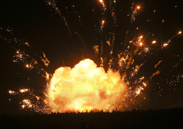 Explosiones en un almacén de municiones en Ucrania