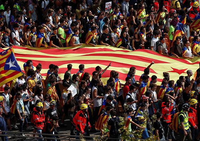 La bandera catalana (archivo)