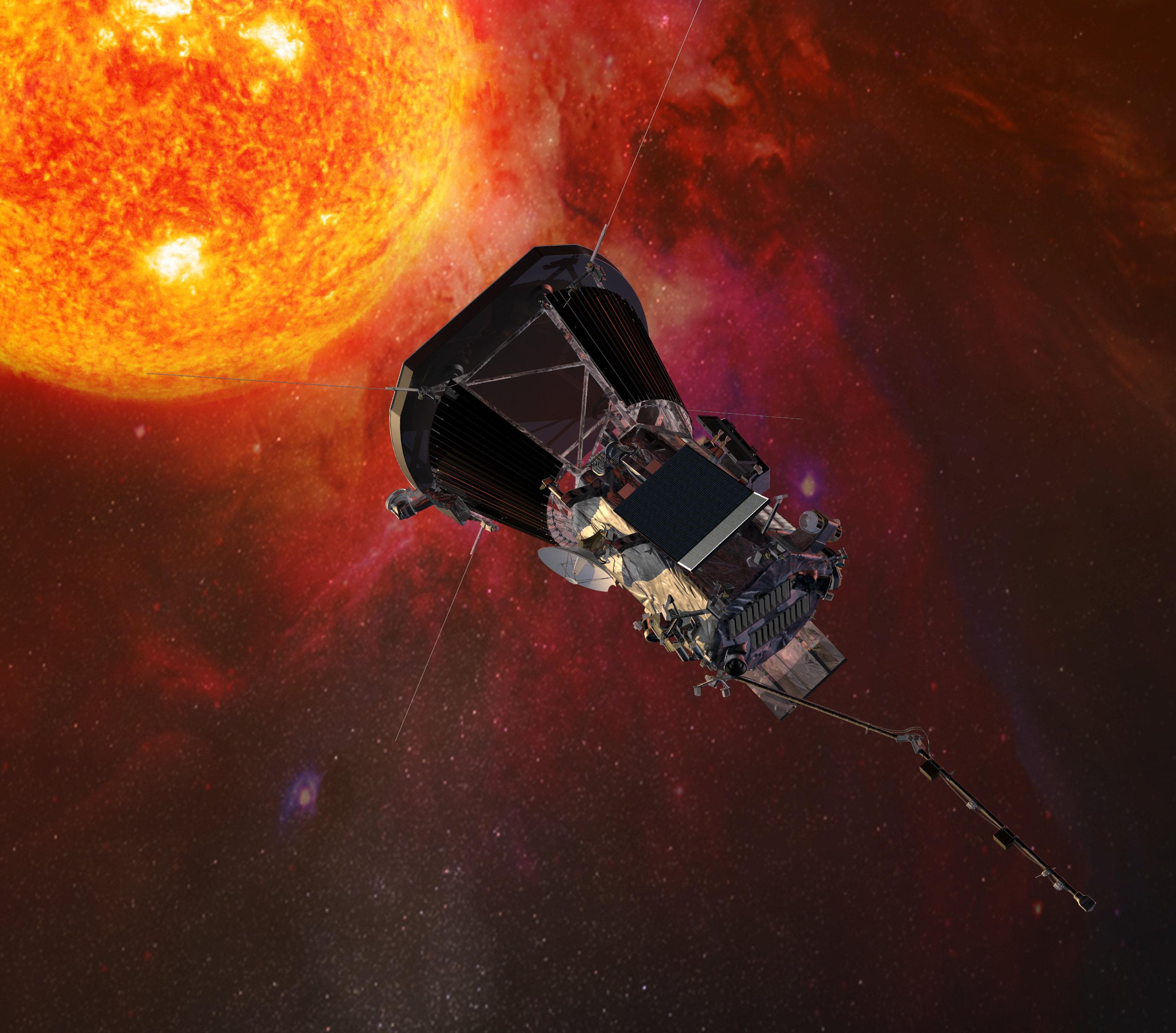 La sonda Parker Solar Probe se acerca al Sol (ilustración artística)