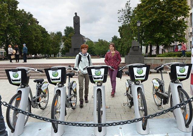 Una estación de alquiler de bicicletas (imagen referencial)