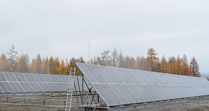 Una central solar en la aldea de Orto-Balagan, en la república de Yakutia