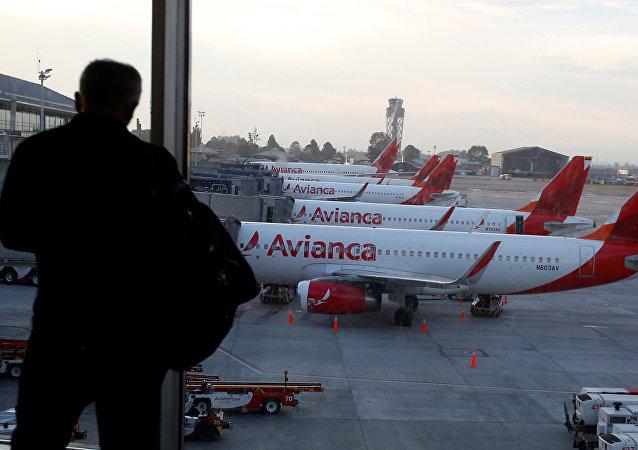 Aviones de la aerolínea colombiana Avianca